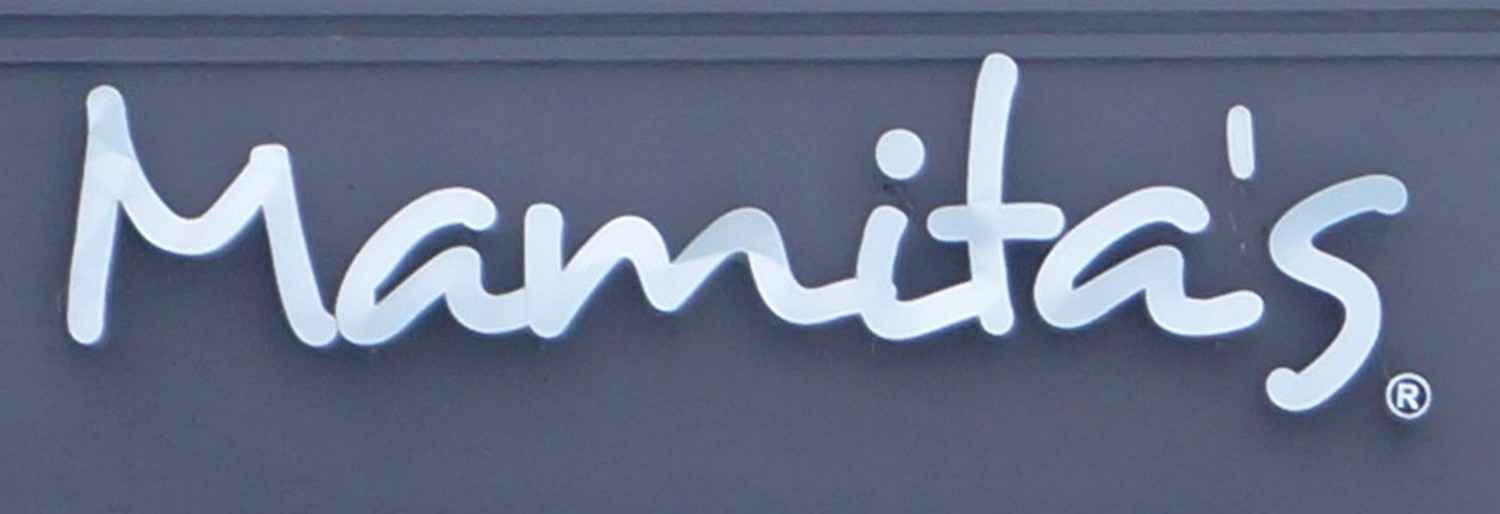 A Mamita's Beach Club logo on the outside of a building.