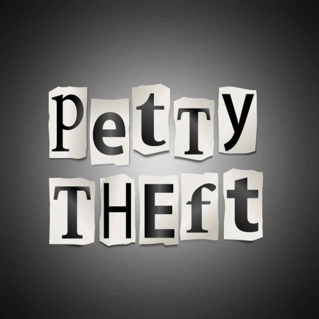 Petty theft graphic.