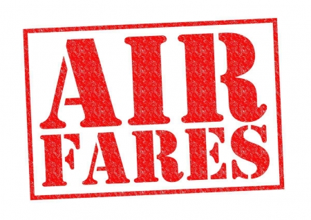 An air fares graphic.
