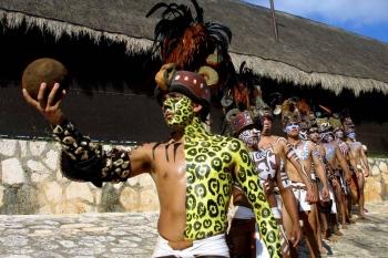 A reenactment of the famous ancient Mayan ballgame.