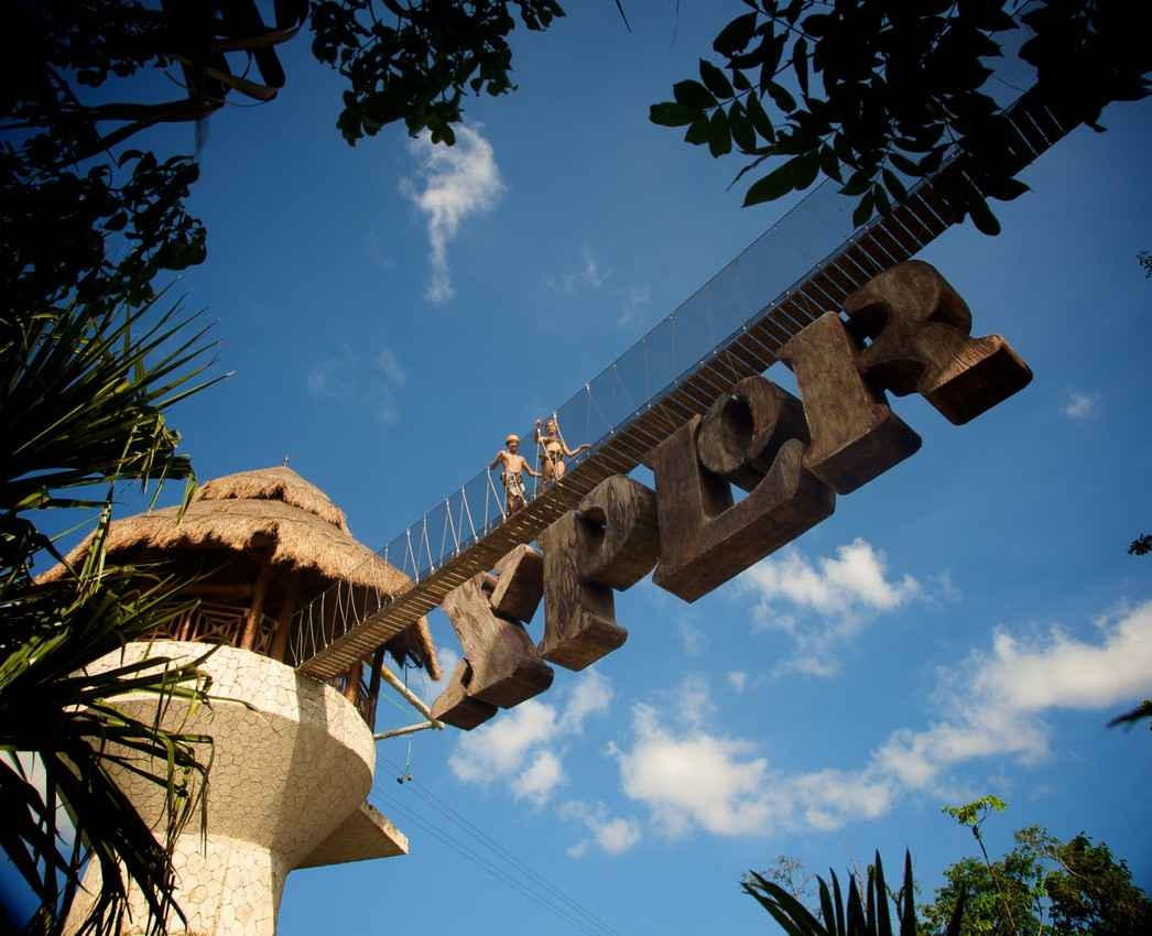 The entrance tower to Xplor.