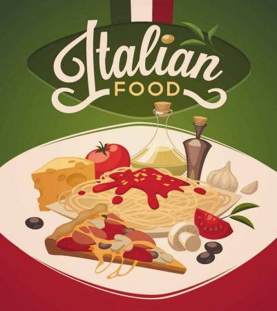 An Italian food graphic.