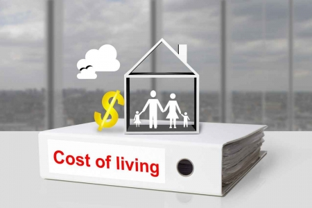 A cost of living binder graphic.