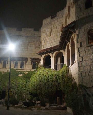 A castle like structure in downtown Playa Del Carmen.