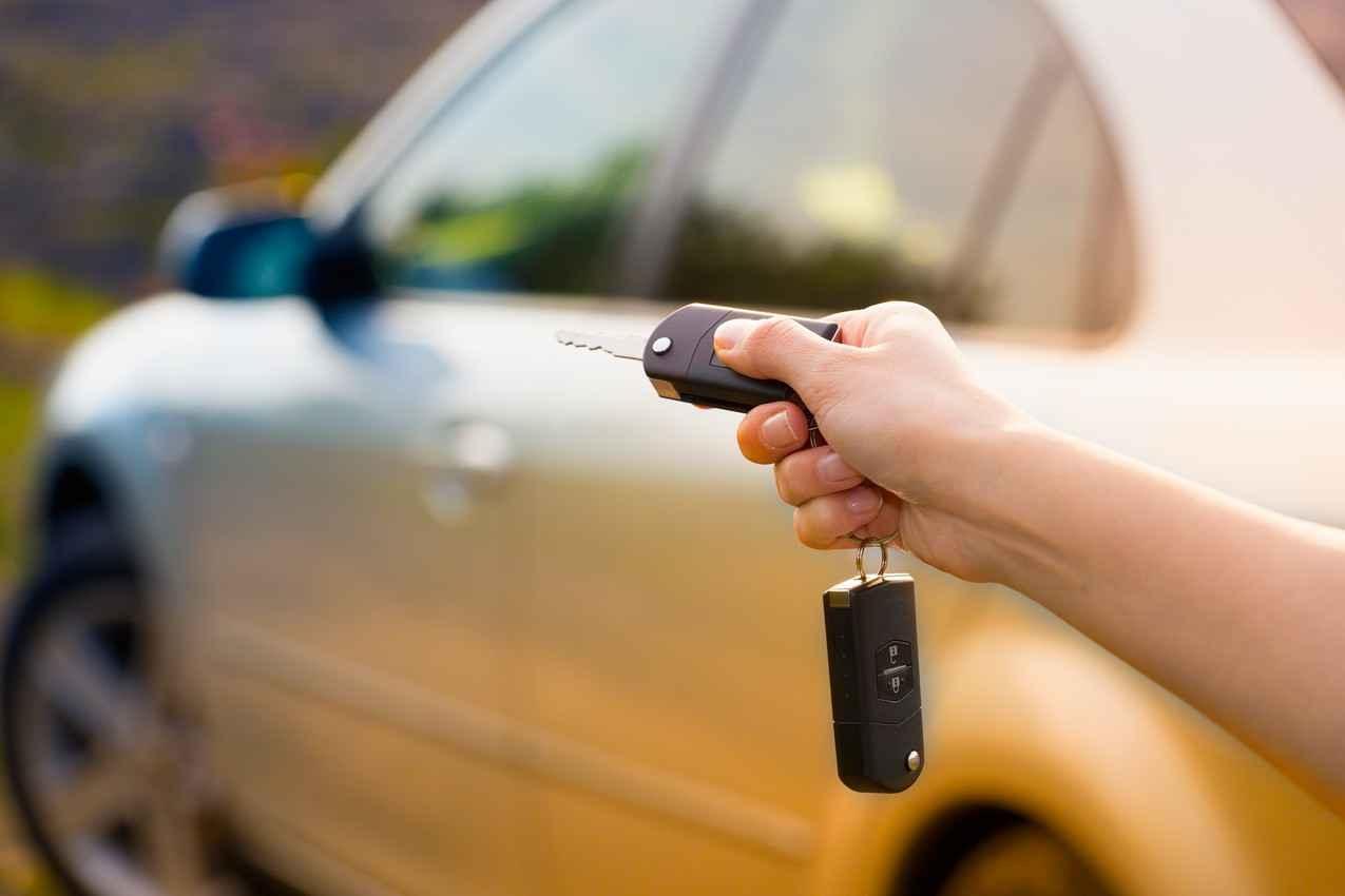 The FOB of a car rental key.