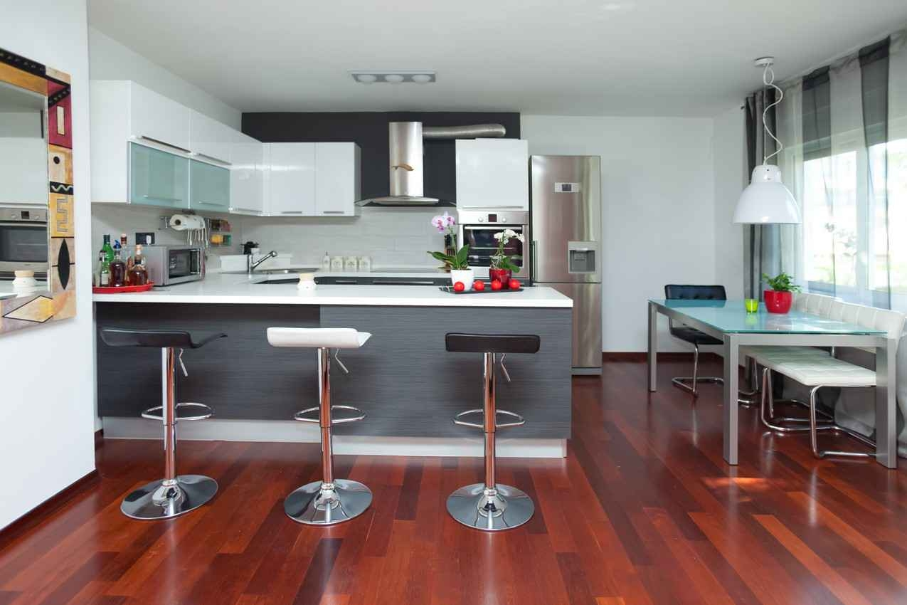 A beautiful kitchen inside a popular Playa Del Carmen rental home.