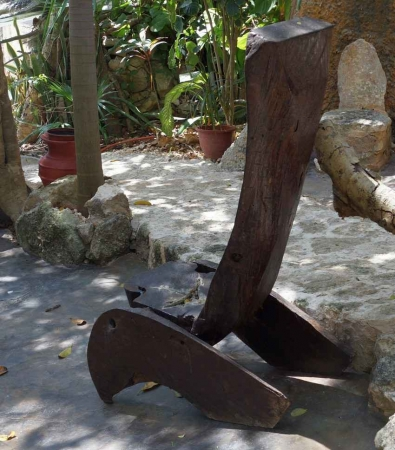 An artistically designed chair at a resort in Playa Del Carmen.