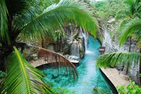 A hidden river at a local theme park.