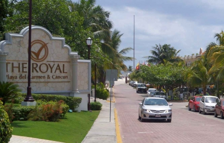 Entrance to the Royal Playa Del Carmen resort.