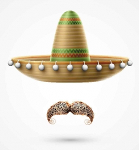 An invisible man with a sombrero and an ugly Mexican mustache.