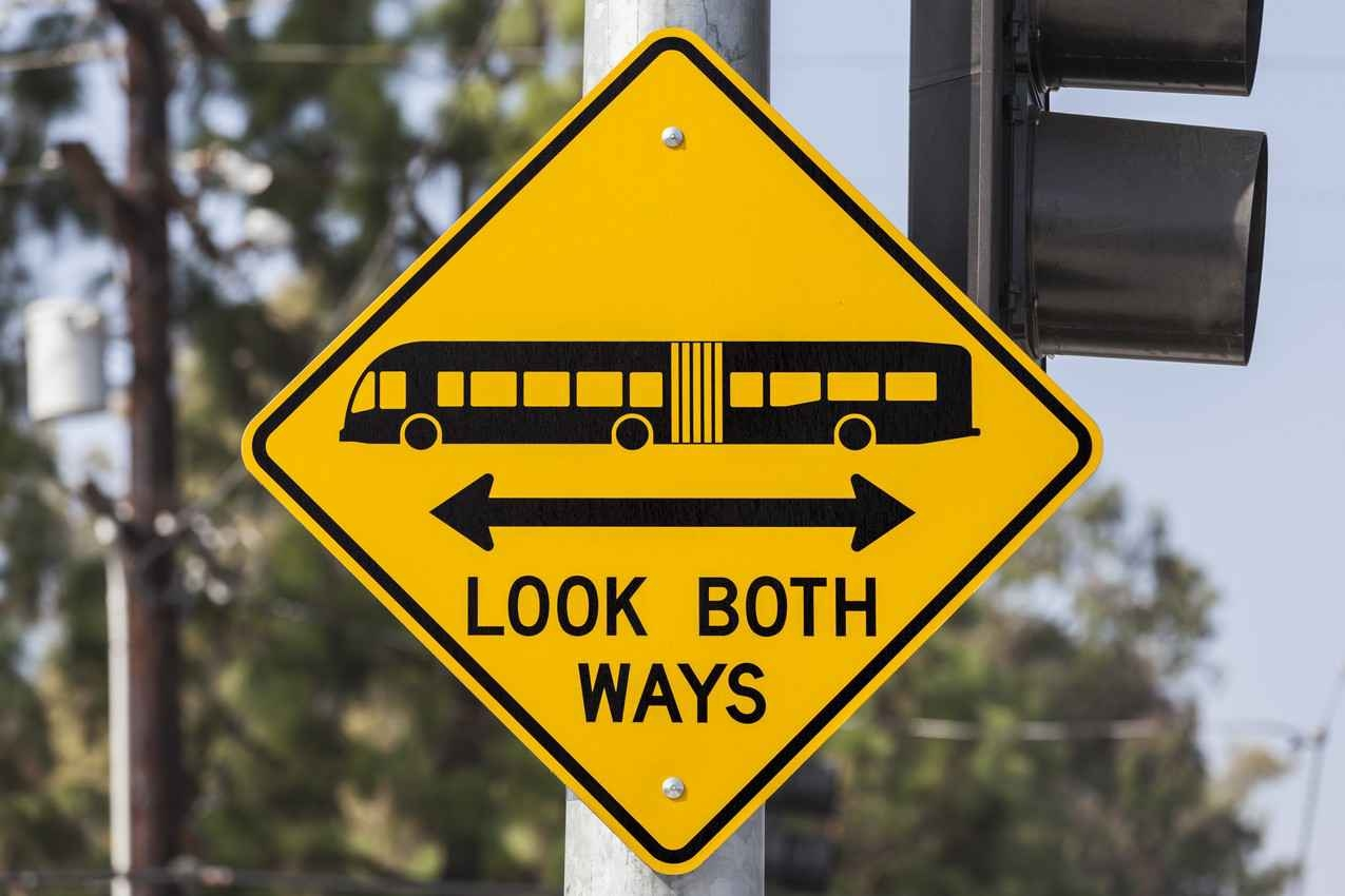 A look both ways street sign.