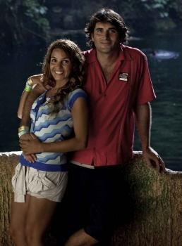 A man and a sexy woman on a Playa Del Carmen tour.
