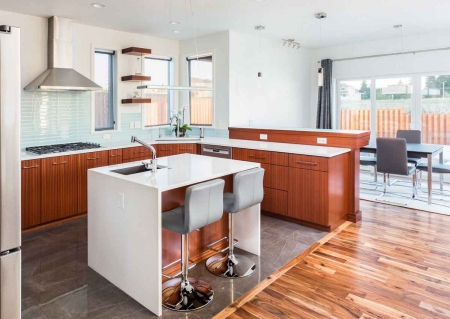 The kitchen and dining room of a popular rental property.