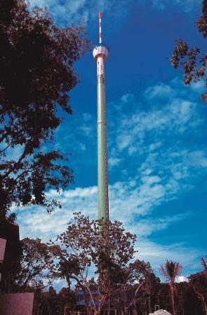 The scenic needle tower near Playa Del Carmen.