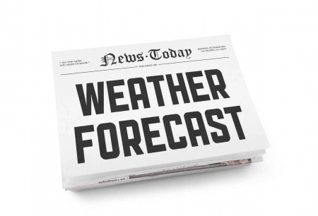 A weather forecast newspaper.