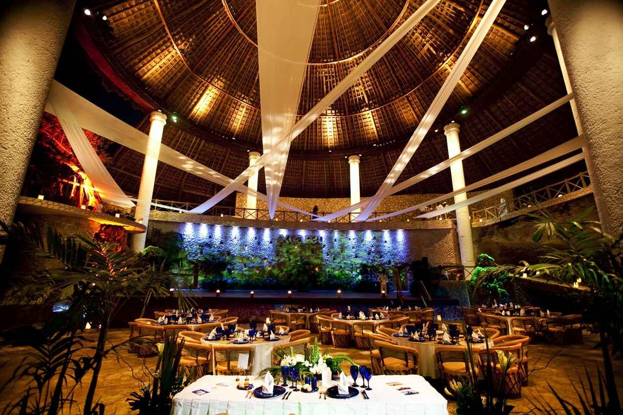 A wedding reception hall at Xcaret themepark.