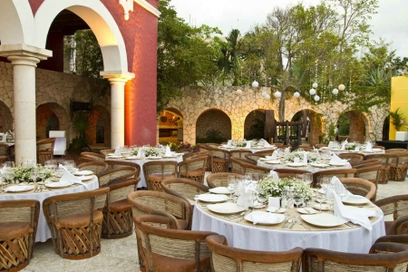 The most popular wedding area at Xcaret themepark.
