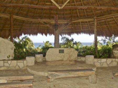 A wedding chapel at Xcaret themepark.
