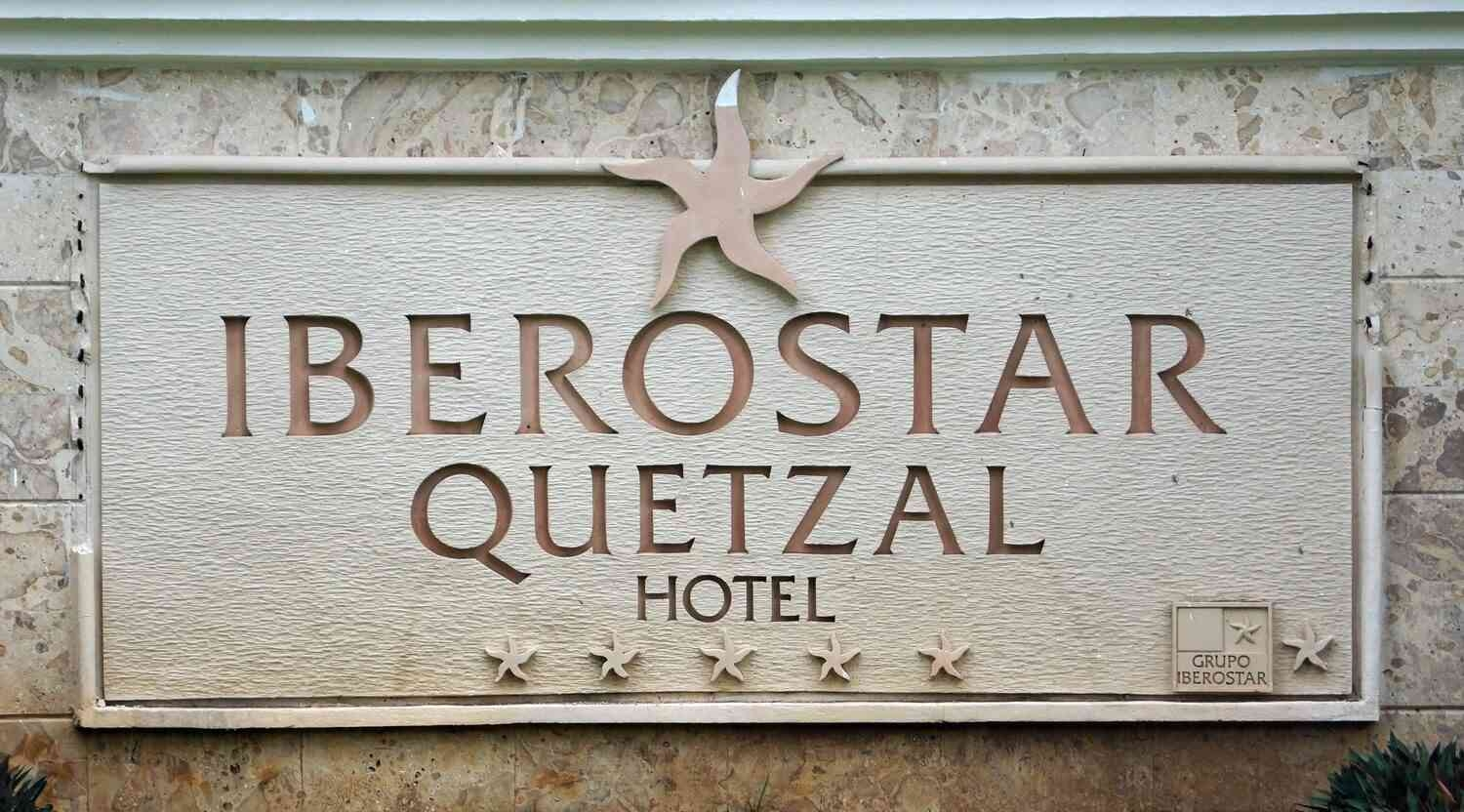 Iberostar Quetzal Hotel entrance sign in Playacar.