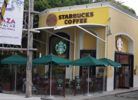 Starbucks in Playacar.