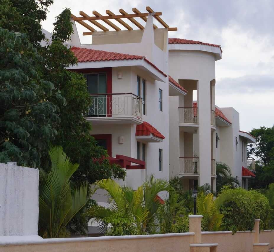 A large house for rent inside Playacar.