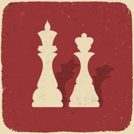 King and queen chess pieces.