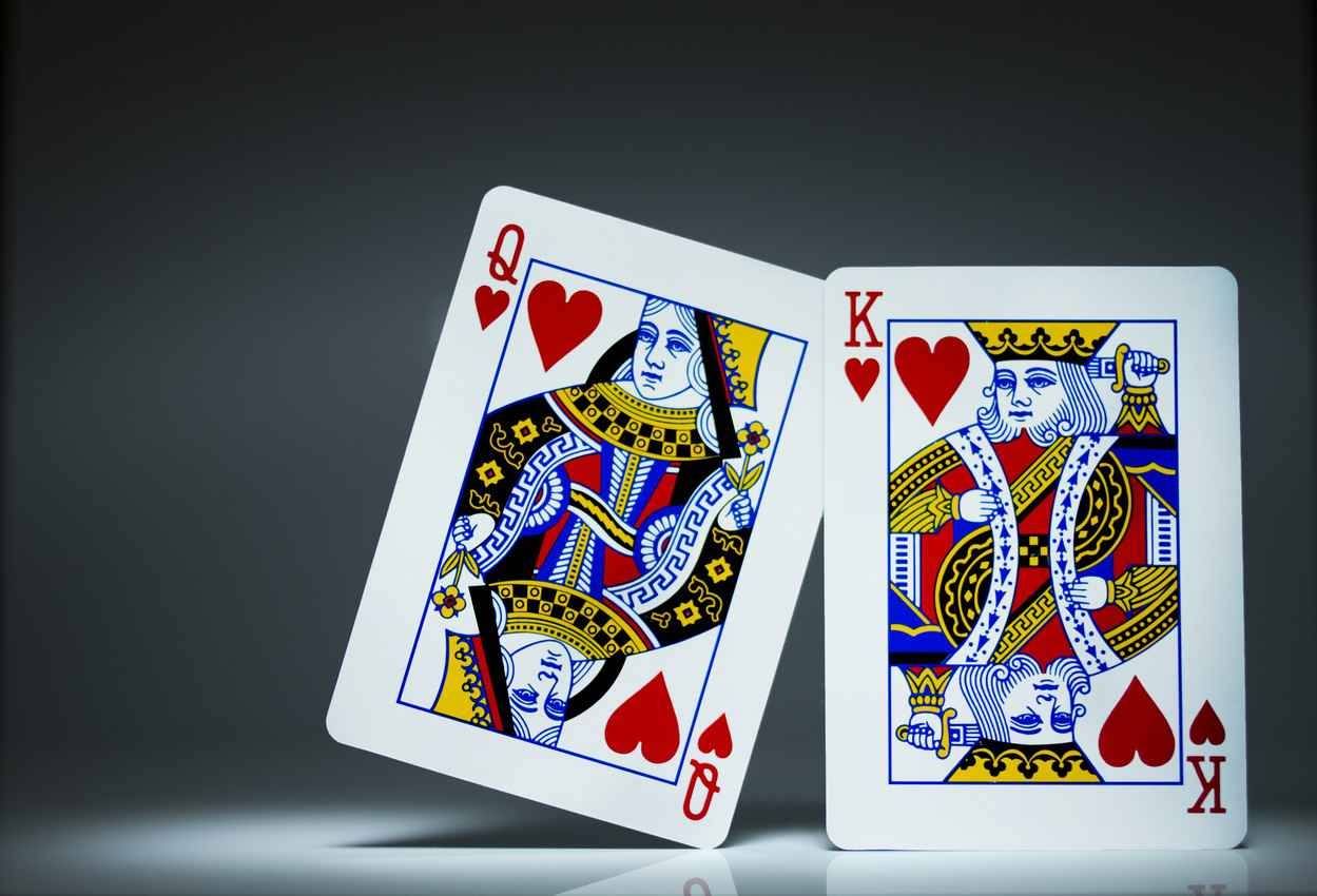 King and queen playing cards.
