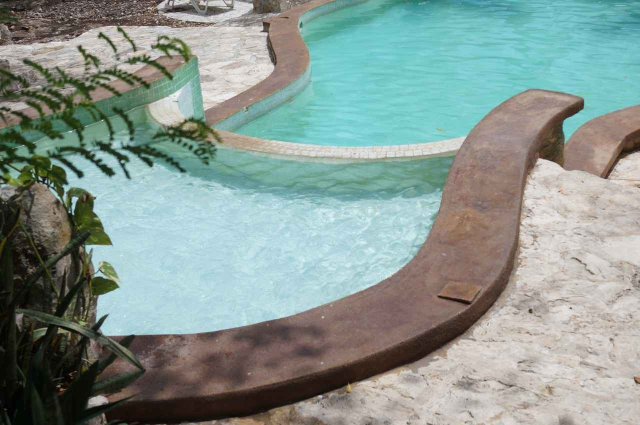 An unfinished swimming pool at a small hotel in Playa Del Carmen.