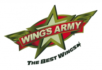 The logo for Wing's Army in Playa Del Carmen