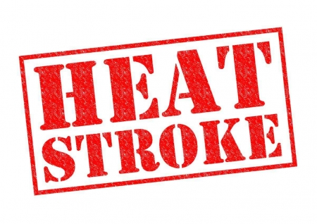 Heat stroke caution graphic.