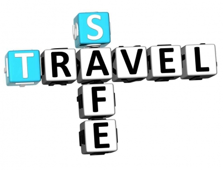 A graphic showing safe travel dice.