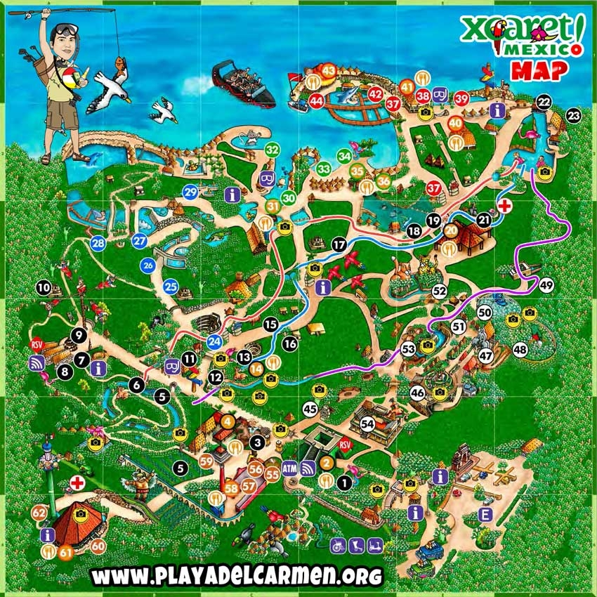 xcaret-brochure-map-customized