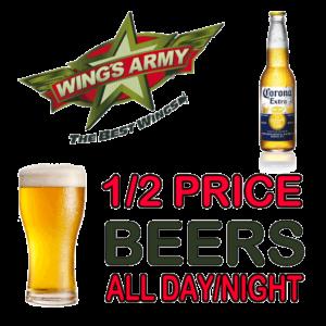 Half Price Beers @ Wings Army | Playa del Carmen | Quintana Roo | Mexico