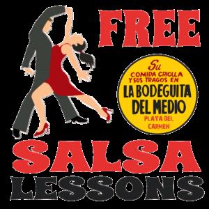 FREE SALSA LESSONS @ La Bodeguita Del Medio | Playa del Carmen | Quintana Roo | Mexico